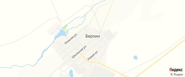 Карта поселка Берлина в Челябинской области с улицами и номерами домов