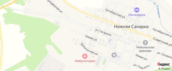 Улица Михайлова на карте села Нижней Санарки с номерами домов