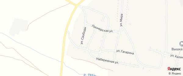 Улица Степанова на карте Красносельского села с номерами домов
