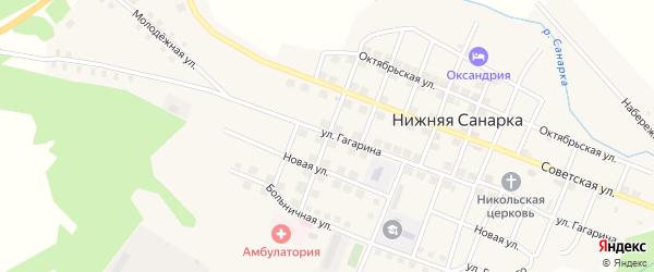 Школьная улица на карте села Нижней Санарки с номерами домов