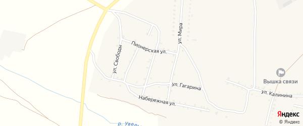 Октябрьская улица на карте Красносельского села с номерами домов