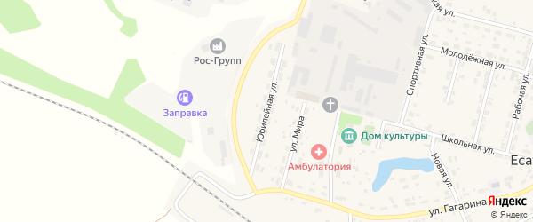Юбилейная улица на карте Есаульского поселка с номерами домов