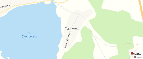 Карта деревни Суртаныша в Челябинской области с улицами и номерами домов