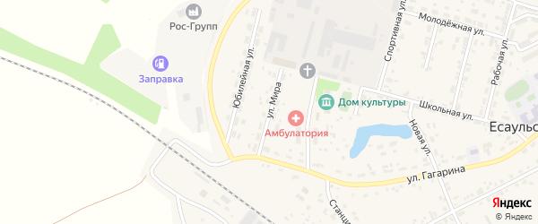 Улица Мира на карте Есаульского поселка с номерами домов