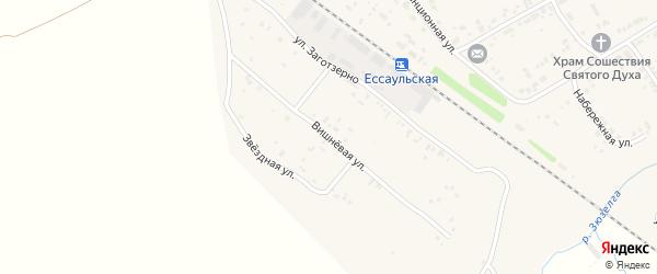 Вишневая улица на карте Есаульского поселка с номерами домов