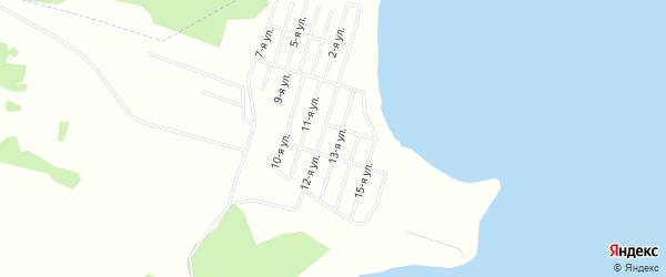 Карта территории СНТ Касарги в Челябинской области с улицами и номерами домов