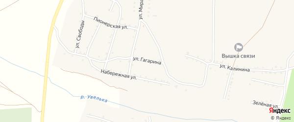 Улица Гагарина на карте Увельского поселка с номерами домов
