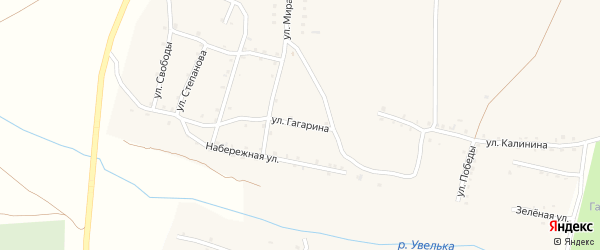 Улица Гагарина на карте Красносельского села с номерами домов