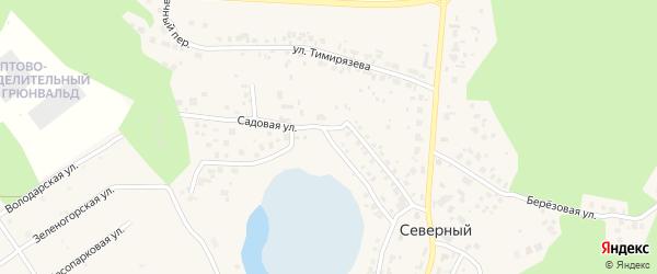 Садовая улица на карте Северного поселка с номерами домов