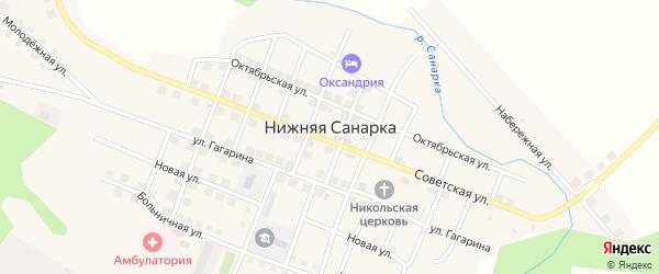 Кооперативная улица на карте села Нижней Санарки с номерами домов