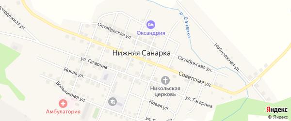 Северная улица на карте села Нижней Санарки с номерами домов