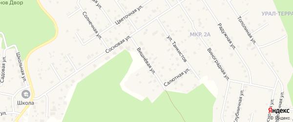 Улица Вишневая (жз Механизатор) на карте деревни Малиновки с номерами домов