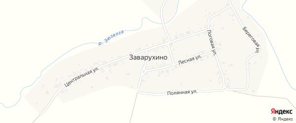 Новый переулок на карте деревни Заварухино с номерами домов
