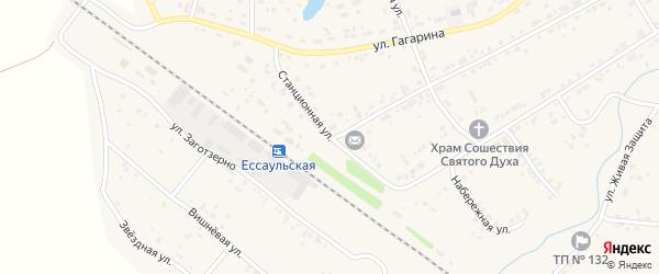 Станционная улица на карте поселка Смолина ж-д. ст. с номерами домов