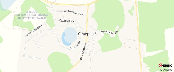 Карта Северного поселка в Челябинской области с улицами и номерами домов