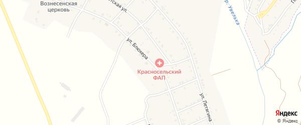 Улица Блюхера на карте Красносельского села с номерами домов