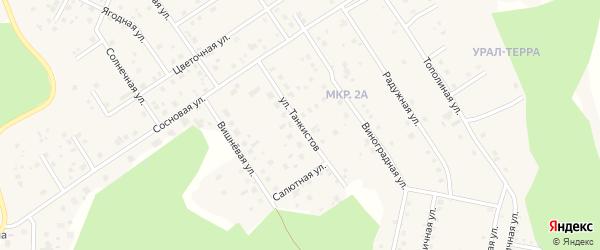Улица Танкистов ( жз Салют ) на карте деревни Малиновки с номерами домов