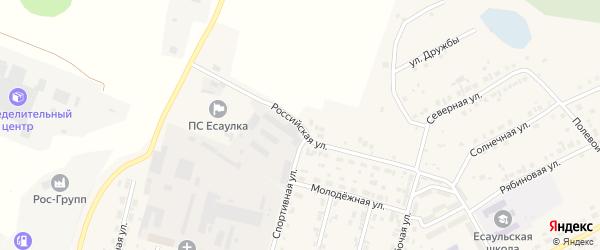 Российская улица на карте Есаульского поселка с номерами домов