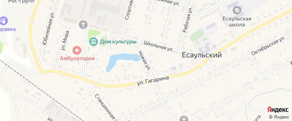 Новая улица на карте Есаульского поселка с номерами домов