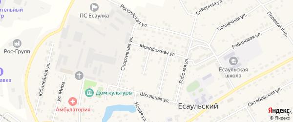 Садовая улица на карте Есаульского поселка с номерами домов
