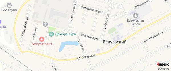 Школьная улица на карте Есаульского поселка с номерами домов