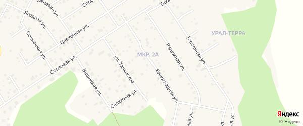 Улица Виноградная ( жз Салют ) на карте деревни Малиновки с номерами домов