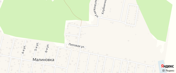 Улица Янтарная (мкр 2-б) на карте деревни Малиновки с номерами домов