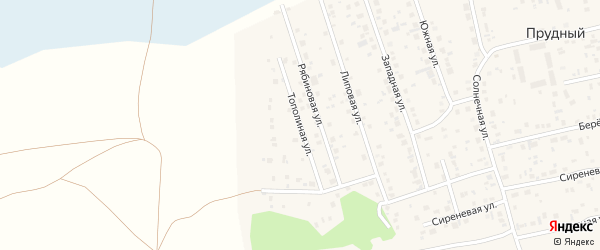 Тополиная улица на карте Прудного поселка с номерами домов