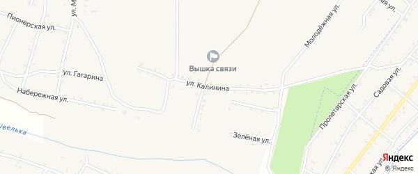 Улица Калинина на карте Красносельского села с номерами домов