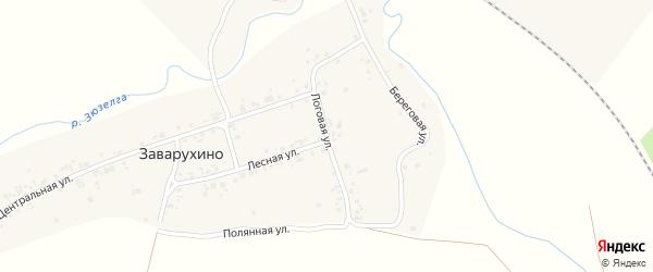 Логовая улица на карте деревни Заварухино с номерами домов