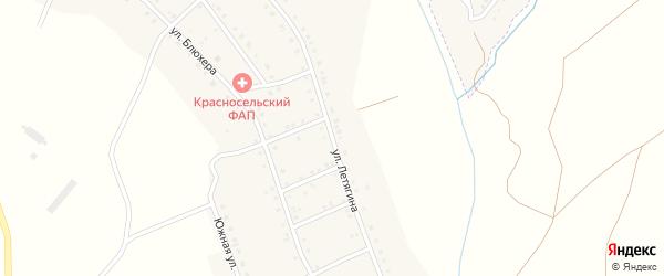 Улица Летягина на карте Красносельского села с номерами домов