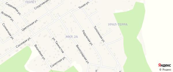 Улица Радужная (мкр 2-б) на карте деревни Малиновки с номерами домов