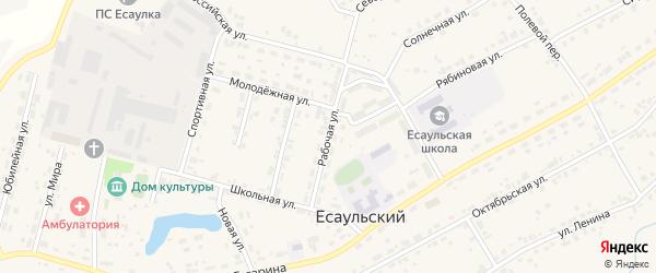 Рабочая улица на карте Есаульского поселка с номерами домов