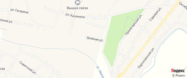 Зеленая улица на карте Красносельского села с номерами домов