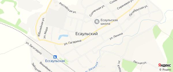 Карта Есаульского поселка в Челябинской области с улицами и номерами домов