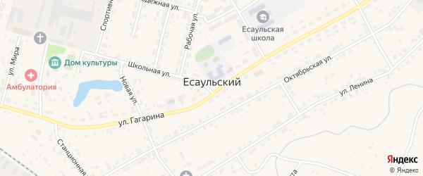 Километр Казарма 226 на карте Есаульского поселка с номерами домов