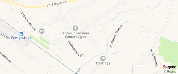 Кооперативная улица на карте Есаульского поселка с номерами домов