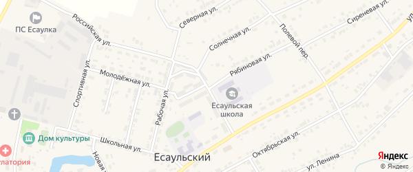 Улица Бердюгина на карте Есаульского поселка с номерами домов