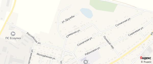 Северная улица на карте Есаульского поселка с номерами домов