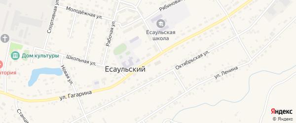 Улица Гагарина на карте Есаульского поселка с номерами домов