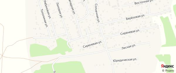 Радужная улица на карте Прудного поселка с номерами домов