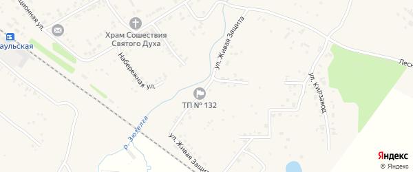 Улица Живая Защита на карте Есаульского поселка с номерами домов