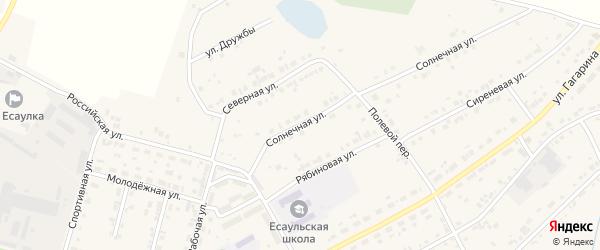 Солнечная улица на карте Есаульского поселка с номерами домов