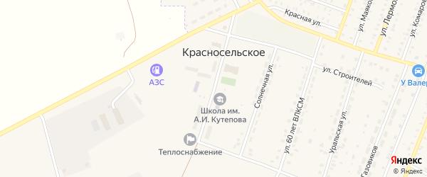 Улица Островского на карте Красносельского села с номерами домов