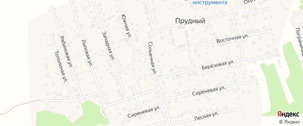 Солнечная улица на карте Прудного поселка с номерами домов
