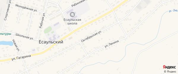 Октябрьская улица на карте Есаульского поселка с номерами домов