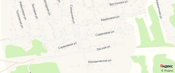 Сиреневая улица на карте Прудного поселка с номерами домов