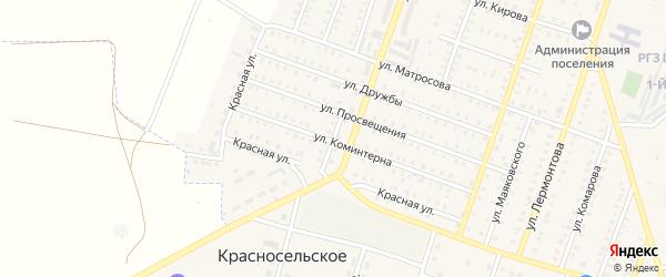 Спортивная улица на карте Красногорского поселка с номерами домов