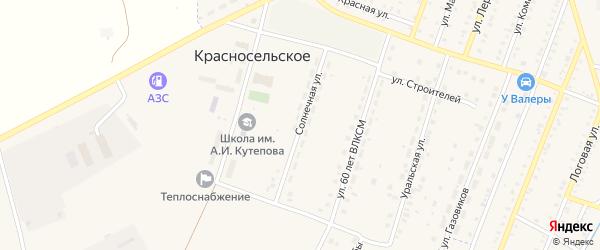 Солнечная улица на карте Красносельского села с номерами домов