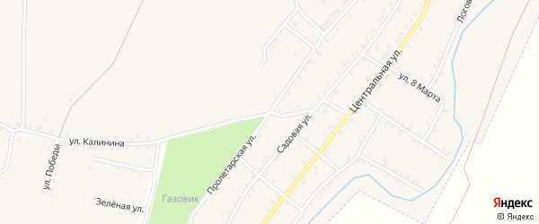 Пролетарская улица на карте Красногорского поселка с номерами домов